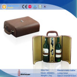 En cuir de luxe vin Bouteille de vin d'affichage Case (5696)