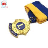 Medaglia su ordinazione del randello di leone del metallo 3D del fornitore cinese