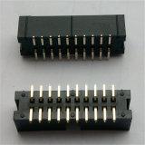 直角2X10は2.54mmのボックスヘッダのコネクターをピンで止める