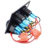 Comitato dell'interruttore di attuatore con lo zoccolo del caricatore del USB & la presa di potere doppi 12V per il rimorchio di campeggiatore marino del crogiolo rv di automobile