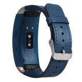 A faixa de relógio do couro genuíno de estilo ocasional para a engrenagem de Samsung coube 2