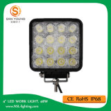 Luz auto 48W del trabajo del LED 4 pulgadas para los carros de los vehículos que trabajan la luz