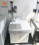 Marcação a Laser de fibra óptica utilizado o gabinete de placa de metal