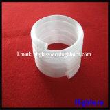 Hersteller milchige weiße Spiring Silikon-Quarz-Glas-Rohrleitung