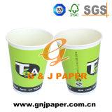 Meio ambiente o logotipo personalizado imprimindo papel descartável xícara de chá 24 oz