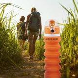 Складной выпускник бутылки воды силикона медицинский, BPA освобождает силикон складывая многоразовые портативные выпивая бутылки для располагаться лагерем путешественника гуляя Hiking Esg10240