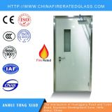 La puerta cortafuego de acero clasificada del fuego con tallas modificadas para requisitos particulares, enciende el vidrio clasificado, el color etc para la opción