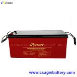 Gel rechargeable 12V 200ah de batterie de panneau solaire