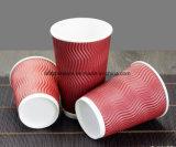 Пользовательский логотип для печати одноразовые двойные стенки из гофрированного картона с чашки кофе пластмассовых крышек для напитков