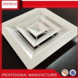 Diffusore quadrato di alluminio dell'aria del soffitto del cunicolo di ventilazione dei sistemi di HVAC