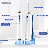 Portátil resistente al agua IPX 7 Irrigator oral con hilo dental para los dientes limpieza