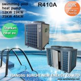 All Day Thermostat 32deg. C 100% Titanium 12kw/19kw/35kw/45kw High Cop4.66 R410A Best Swimming Pool Heat Pump Prices