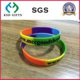 Freies preiswertes Gummiarmband-Firmenzeichen-Druck-Silikon-Armband (KSD-846)