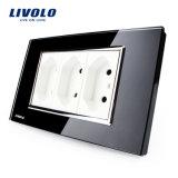 Livolo 118のタイプ電力のアウトレットのブラジルのソケットVl-C3c3bit-81/82