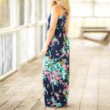 Nueva moda largo vestido de verano en la playa Mujer Plus Size