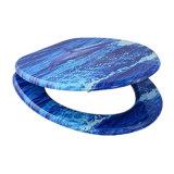 El desbloquear rápido atornilla la cubierta de asiento de madera para el tocador del cuarto de baño