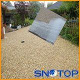 Réseau au sol de stabilisation, couvre-tapis stabilisant de caillou, renfort au sol en plastique