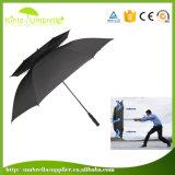Guarda-chuva super do golfe da tempestade da alta qualidade grande Windproof para anunciar