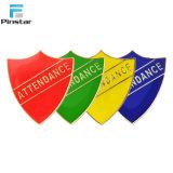L'émail doux couleur personnalisée Shield capitaine de l'école SHAPE insignes