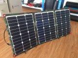 Sunpowerのキャンプのための太陽電池100Wの適用範囲が広い太陽電池パネル