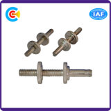 DIN/ANSI/BS/JIS Carbon-Steel 또는 Stainless-Steel 연결 Knurled 나사 견과 두 배 뭉치 로드 나사