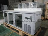 Porta de vidro Contador de cozinha frigorífico SUS304 e do corpo do compressor Embraco