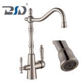 Deux aérateurs deux flux plaqués au chrome filtre à eau du robinet de cuisine