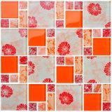 Красного цветка Синие цветы Crystal Mosaic 50X50, 25X25мм мозаика