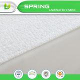 Cubierta de colchón impermeable antibacteriana respirable de Terry del algodón