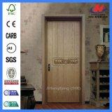 Дверь твердой древесины одиночного Antique панели нутряная высеканная
