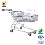 Au240b 240L Grande Capacidade Metal Carrinho Carrinho de Compras de supermercado