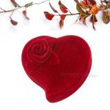Contenitore impaccante della Rosa di disegno del velluto del cuore di regalo rosso di figura - caso 2