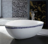 Cor Preto e Branco Dois Lados Banheira banheira em pedra para venda