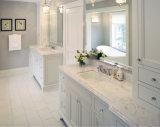 Partes superiores contrárias do banheiro de pedra de mármore artificial da resina da pedra de quartzo