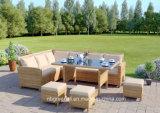 고정되는 정원 등나무 옥외 가구 세트를 식사하는 9 Seater 코너 소파