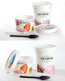 Wegwerfeiscreme-Cup, gebratenes Joghurt-Papiercup