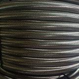 Venta caliente espiral reforzado con alambre de acero recubierto de Teflón de poliéster trenzado manguera de tela