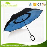 Hand Open 23inch X 8K de Dubbele Omgekeerde Paraplu van de Laag ondersteboven Omgekeerde