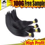 自然なバルク毛の8Aブラジルの毛