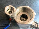 Valvola a sfera esagonale manuale del filetto 1PC del acciaio al carbonio di Wcb