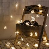 크리스마스 훈장 소설 꽃 LED 끈 빛
