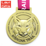卸し売りカスタム金属はダイカストの銅めっき賞メダルを