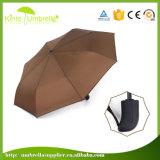 中国強い防風の黒い金属シャフトの傘の製造業者