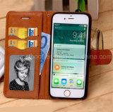 iPhone 6/7/8のための特別なデザイン革携帯電話の場合