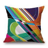 ホーム装飾(35C0274)のための多彩で抽象的な幾何学のデジタルによって印刷されるクッションカバー