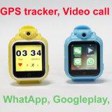 вращая вахта отслежывателя GPS малыша звонока камеры 3G видео-