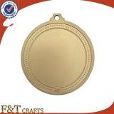 Medaglia del ricordo della medaglia di sport della medaglia placcata oro su ordinazione all'ingrosso del metallo