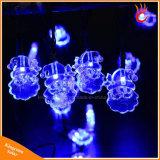 Indicatori luminosi solari esterni della stringa delle lampade 20LED della decorazione della festa di Natale della Santa