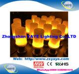 Lumière chaude de lampe de flamme de la vente E26/E27/B22 Ce/RoHS 5With7With9W DEL de Yaye 18 avec le blanc chaud