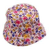 Chapéu novo do revestimento de Sun da cubeta de pano das flores da forma